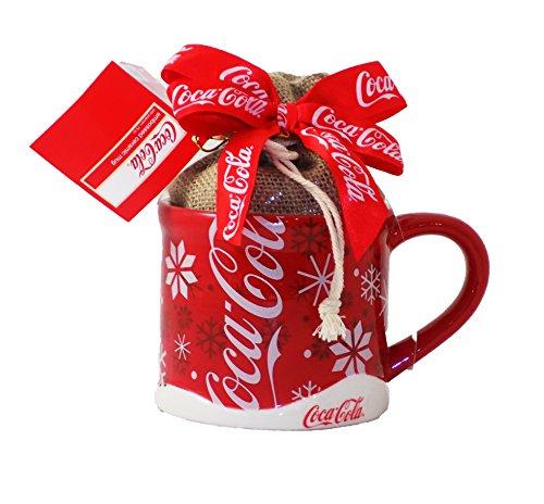 (Coca Cola Popcorn Gift Ceramic Mug Christmas Holiday Set Coke)