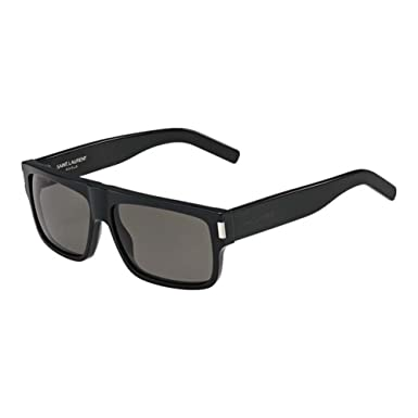 Amazon.com: Saint Laurent 807 Negro SL56 Gafas de sol lente ...