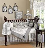 Black French Toile Baby Boy or girls Unisex Bedding 9pc Crib Set by Sweet Jojo Designs