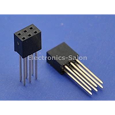 Electronics-Salon 10pcs 2x3Pin Dual Row 15mm Tall Header Socket Connector, for Arduino ICSP.: Toys & Games
