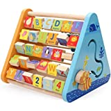 FunBlast 5 in 1 Learning Educational Creative Wooden Activity Triangle Abacus for Kid's (Multicolour)