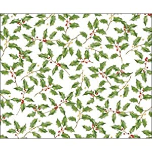 Christmas Holly Paper Placemats 12 Per Pack: Amazon.co.uk: Kitchen ...