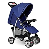 Costzon Baby Stroller, Foldable Infant Pushchair with 5-Point Safety Harness, Multi-Position Reclining Seat