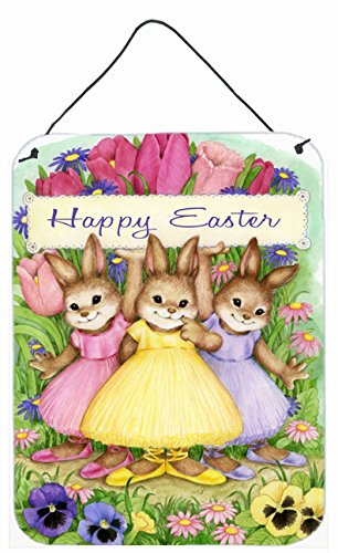 Caroline's Treasures Three Bunnies Happy Easter Wall