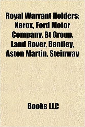 Amazon in: Buy Royal Warrant Holders: Xerox, Ford Motor Company, BT