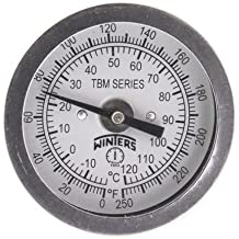 "1/2"" CTS SharkBite Temperature Gauge, Lead Free (No Tee)"