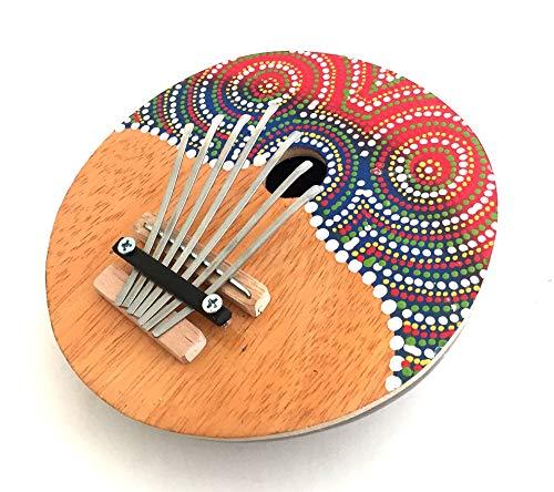 Coconut Kalimba Thumb Piano Hand Painted Kalimba Percussion Instrument 7 Keys Tunable, Professional Sound - JIVE BRAND