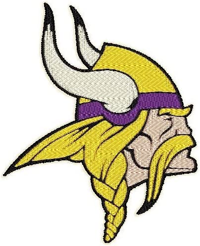 "3.9/"" x 3.2/"" Complete Stitches, Iron On patch Patch Craft Minnesota Vikings"