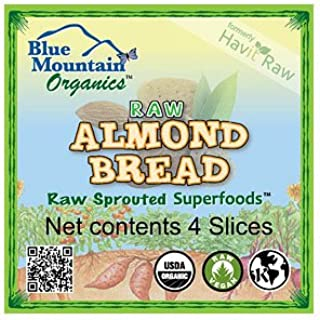 product image for Blue Mountain Organics, Raw, Vegan, Paleo, Organic, Sprouted Almond Bread (4 slices), 5 oz