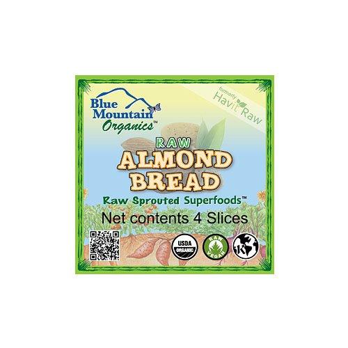 Blue Mountain Organics, Raw, Vegan, Paleo, Organic, Sprouted Almond Bread (4 slices), 5 oz (Raw Organic Bread)