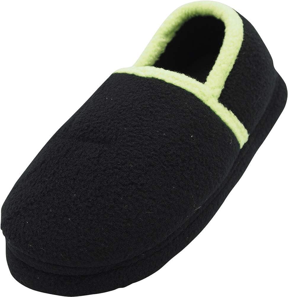 NORTY - Toddler/Little Kid/Big Kid Boys Fleece Memory Foam Slip On Indoor Slippers
