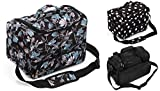 Kenley Professional Hairdressing Hair Salon Styling Tools Carry Case Bag Organizer - Midnight Flowers