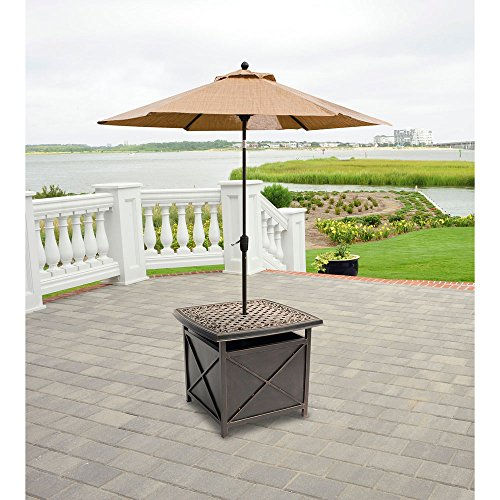 Hanover TRADUMBTBL Traditions Aluminum Rust-Free Patio Umbrella Base, Oil-Rubbed Bronze Outdoor Furniture