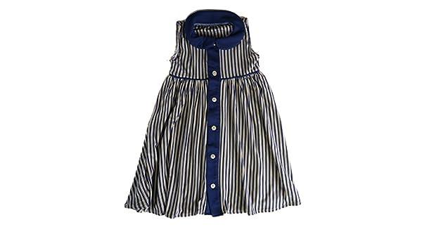 00f8a2873e31 Amazon.com  Sweet Bamboo Nautical Ruffle Stripe Dress  Clothing