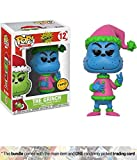 Funko The Grinch [Santa] (Chase Edition) POP! Book x Dr. Seuss Vinyl Figure + 1 American Cartoon Themed Trading Card Bundle (21745)