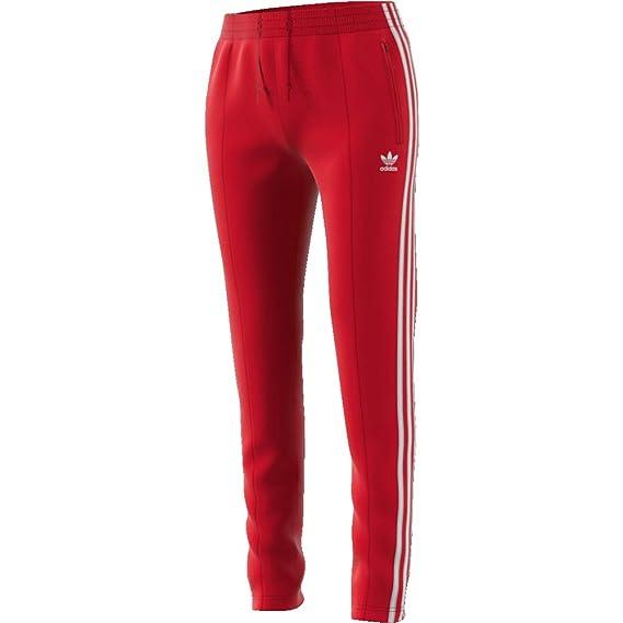 adidas SST TP Pantalon pour Femme Rouge ED7575: Amazon.fr ...