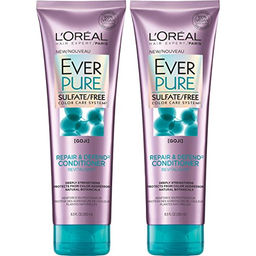 L'Oreal Paris Hair Care Ever Pure Sulfate Free Repair and Defend Conditioner, 2 Count ()