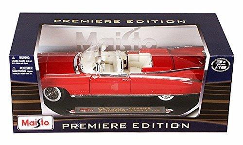 Cadillac Diecast Models - Maisto 1959 Cadillac Eldorado Biarritz Convertible, Pink Premiere 36813-1/18 Scale Diecast Model Toy Car