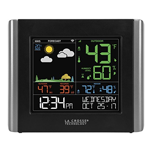 La Crosse Technology V10-Wth-Int Color Wireless Wifi Essential Weather Station