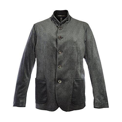 Giorgio Armani Men's Charcoal Faint Plaid Velvet Jacket IT 54R - Giorgio Coupon Armani