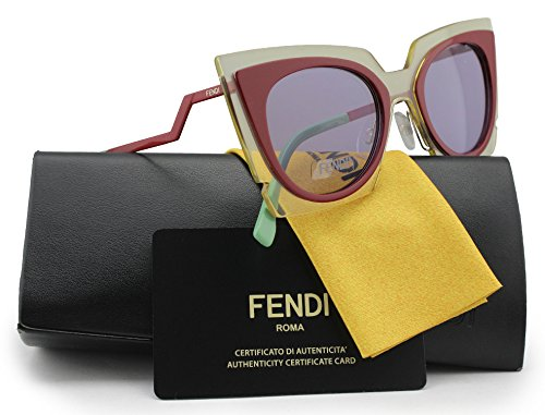 FENDI-FF0117S-Sunglasses-RedCrystal-wCrystal-Pink-0IC5-0117-IC5-Y4-49mm-Authentic