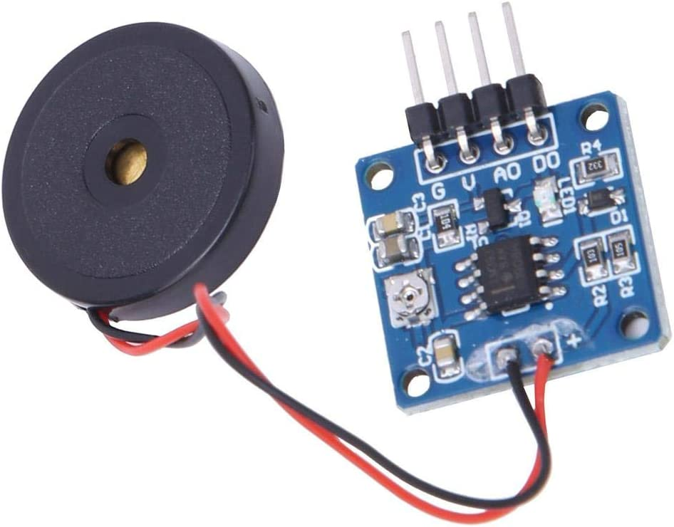 Vibration Switch Module 5.0V DC AD//DO 0.8 x 0.8in Piezoelectric Vibration Tapping Sensor Module
