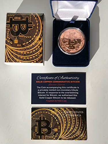 Virginia City Mint Commemorative Bitcoin Coin Set...Solid Copper...Limited Edition...w/ COA ()