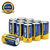 ALLMAX All-Powerful Alkaline Batteries- C (12-Pack), Ultra Long Lasting, Leak-Proof, 1.5V Cell
