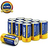ALLMAX All-Powerful Alkaline Batteries- C (12-Pack), Ultra Long Lasting, Leak-Proof, 1.5V Cell Non Rechargeable