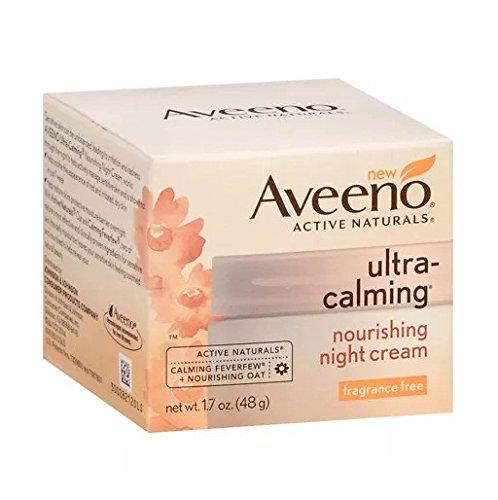Aveeno Active Naturals Ultra-Calming Night Cream, 1.7-Ounce Jars (Pack of 2)