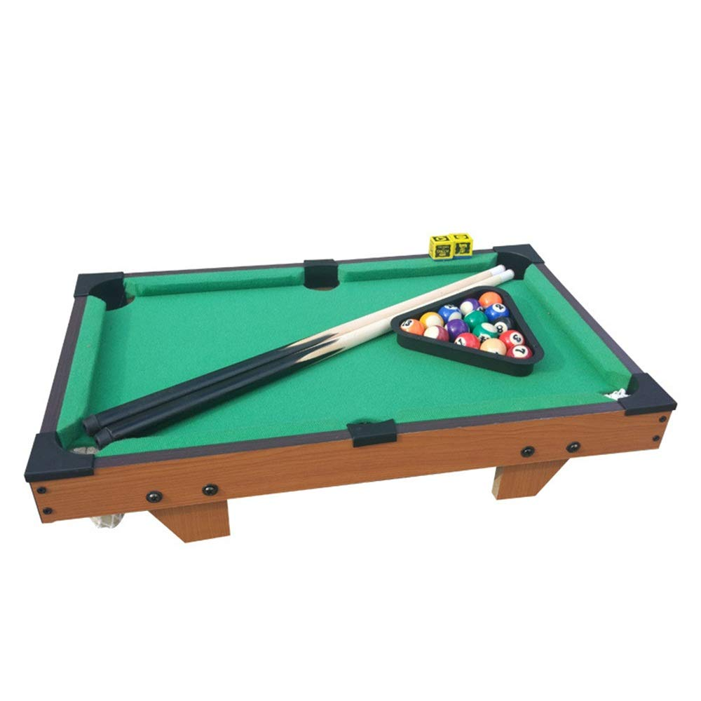 Mini Pool Table Tabletop Billiard Game Set Ball Billiards Home Billiard Game Sets Pool Table (Color : Green, Size : 51x31.5cm) by Forgiven