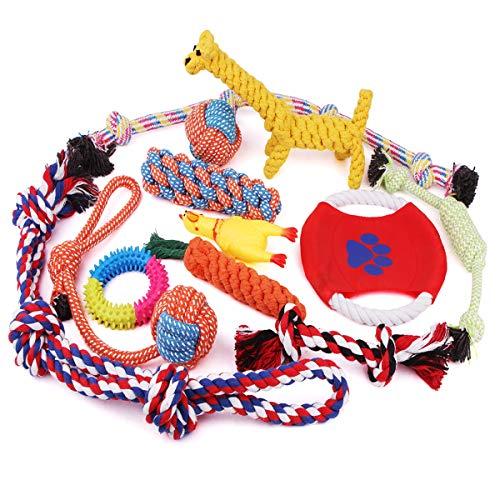 VIEWLON Hundespielzeug Welpe, Tau Hundespielzeug, Seil Spielzeug Hund, Interaktives Kauspielzeug Spielzeug, Vorteilhaft…