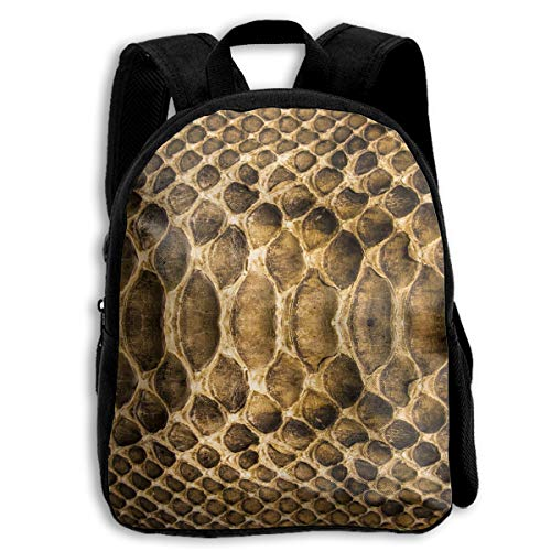 Rough Snake Scale Skin 3D Children Multi-function Mini Bag Pocket Zipper Casual Outdoor Travel Book Middle School Backpack