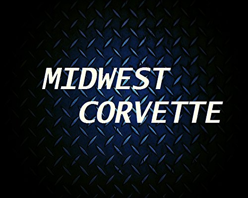 C3 Corvette Crossed Flag Wall Emblem Large Metal Art 68-76 Full 32 x 13 In Size