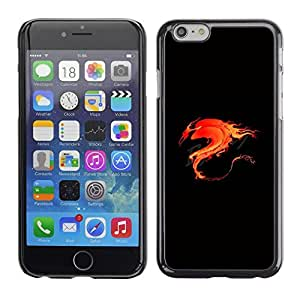 LECELL -- Funda protectora / Cubierta / Piel For Apple iPhone 6 Plus 5.5 -- Flame Flaming Fire Tribal Dragon --