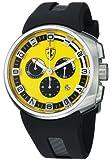 FerrariMen's Podium Yellow Dial Black Rubber Strap Quartz Watch