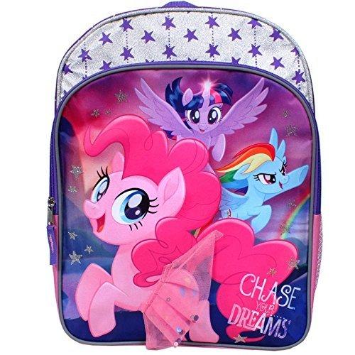 [해외]My Little Pony Twilight Sparkle Rainbow Dash and Pinkie Pie Chase Your Dreams 16 inch Backpack with Side Mesh Pocket / My Little Pony Twilight Sparkle, Rainbow Dash and Pinkie Pie Chase Your Dreams 16 inch Backpack with Side Mesh P...