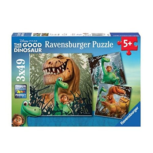 (Ravensburger The Good Dinosaur: The Dino Gang 3 49 Piece Jigsaw Puzzles for Kids - Every Piece is Unique, Pieces Fit Together Perfectly)
