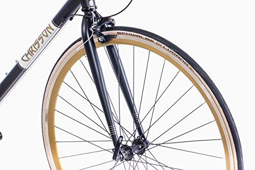 28 pulgadas Urban CHRISSON bicicleta de carreras vintage Road 3.0 con 21 g Shimano A070 Retro Negro Mate: Amazon.es: Deportes y aire libre