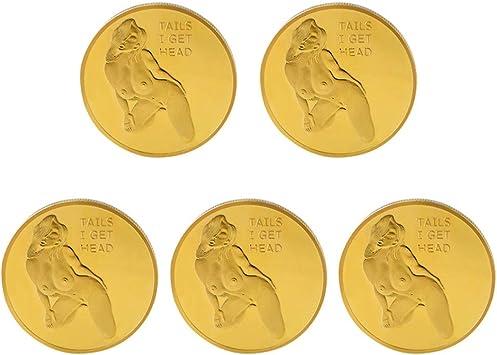 Amosfun 5 Piezas Sexy Mujer Moneda desafío Monedas Cabezas ...