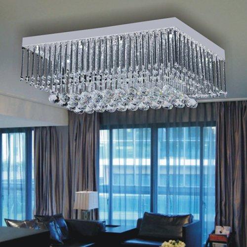 LightInTheBox 12W Artistic LED Ceiling Light in Crystal Beaded Design Modern Home Ceiling Light Fixture Flush Mount, Pendant Light Chandeliers Lighting, Voltage=110-120V by LightInTheBox