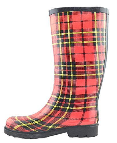 Cambridge Print Waterproof Select Womens Plaid Welly Tartan Pattern Colorful Rain Boots rgrwCxZ