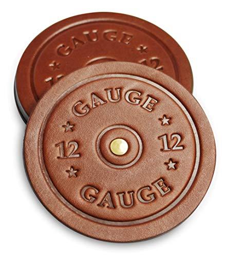 Shotgun Shell Coasters - Leather Coasters Set of 4 - Rustic Coasters ()