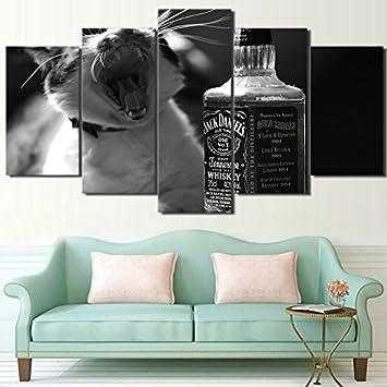 Mit Rahmen Leinwand Wand Kunst Grau Poster Wall Art Frames Für Wohnzimmer  Home Decor 5 Stück