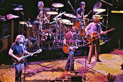 OnlyClassics 1980 Grateful Dead Rock Band CONERT 8X12 Photo Jerry Garcia, BOB Weir, HART LESH