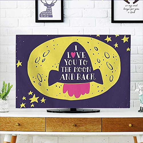 Leighhome Protect Your TV Rocket Goes to The I You to The and Back Stars Solar Protect Your TV W19 x H30 INCH/TV 32'' by Leighhome