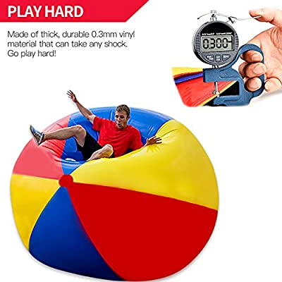 Novelty Place Giant Inflatable Beach Ball, Pool Toy for Kids - Jumbo Size 5 Feet (60 Inches): Toys & Games