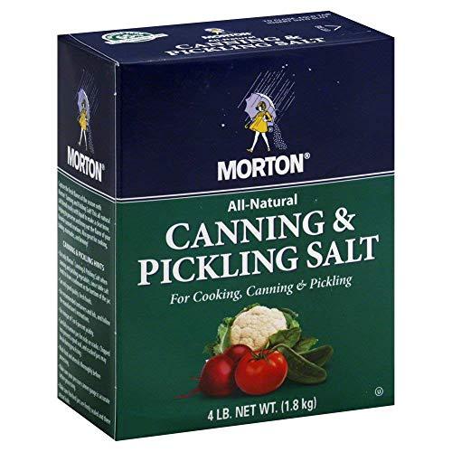 Morton Canning and Pickling Salt 4 Lb Box (2) (Best Salt For Pickling)