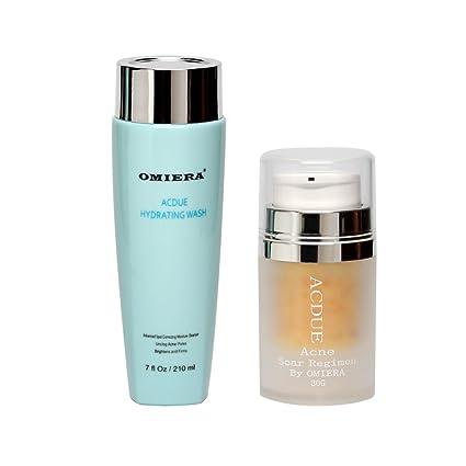 Acdue - Juego de 2 productos antiacné para la piel, tratamiento para eliminar las heridas ocasionadas por el acné y eliminador de marcas de acné