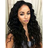 Echo Beauty Brazilian Virgin Hair Human Hair 130% Density Lace Human Hair Wigs For Black Women Brazilian Body Wave Lace Front Wig Glueless Lace Wigs 14Inch